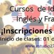 Curso de Inglés y Curso de Francés