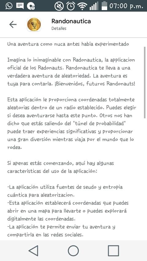 Randonautica -información