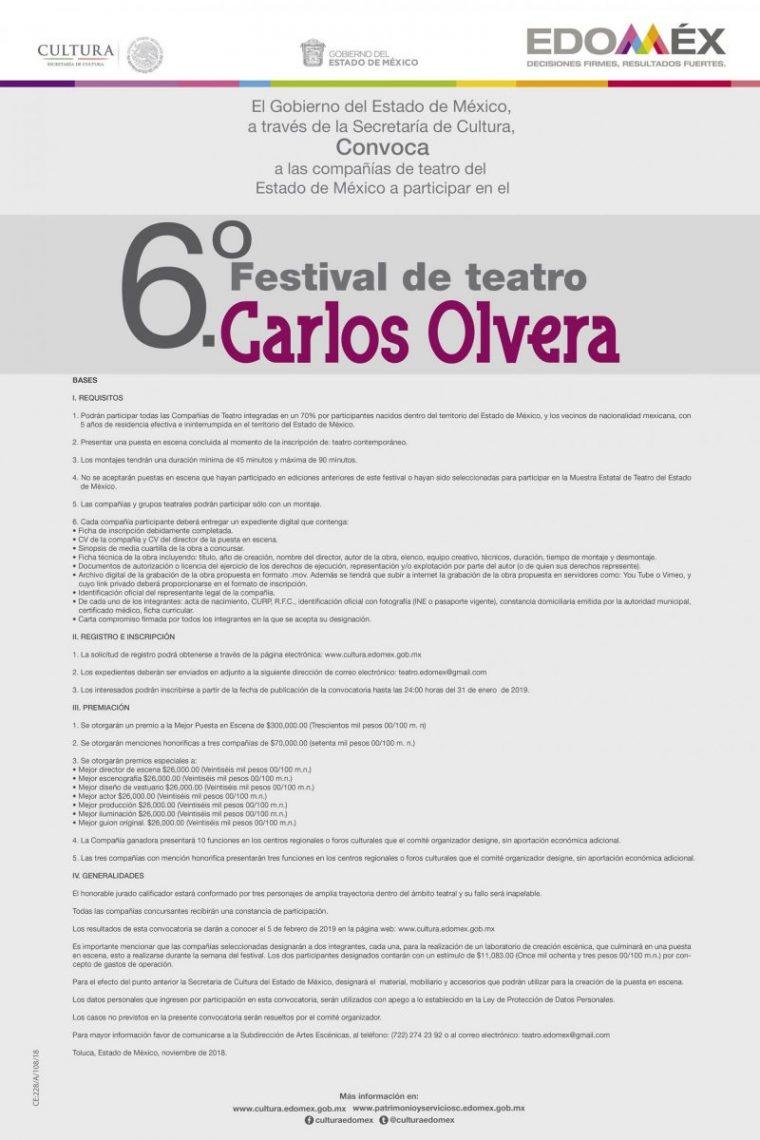 Convocatoria - Sexto Festival de Teatro