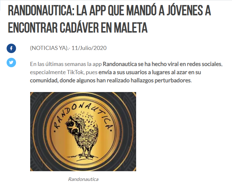 Randonautica - noticia